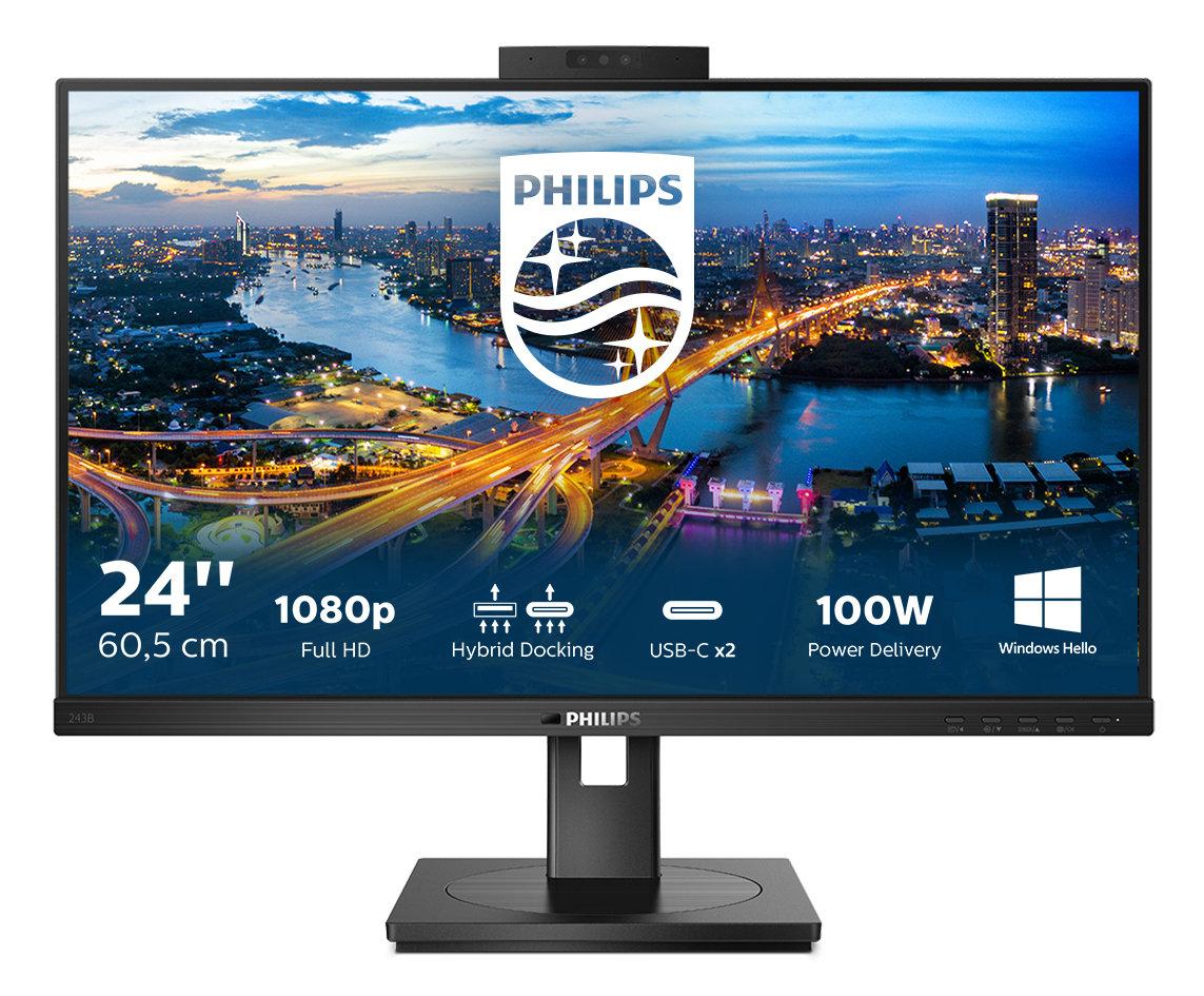 Хибридна връзка и сигурна уеб камера в нов, удобен и екологичен монитор от B серията на Philips 139