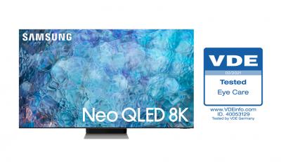 """Neo QLED от 2021 г. е получил първия по рода си сертификат за """"Безопасност за зрението"""" 270"""