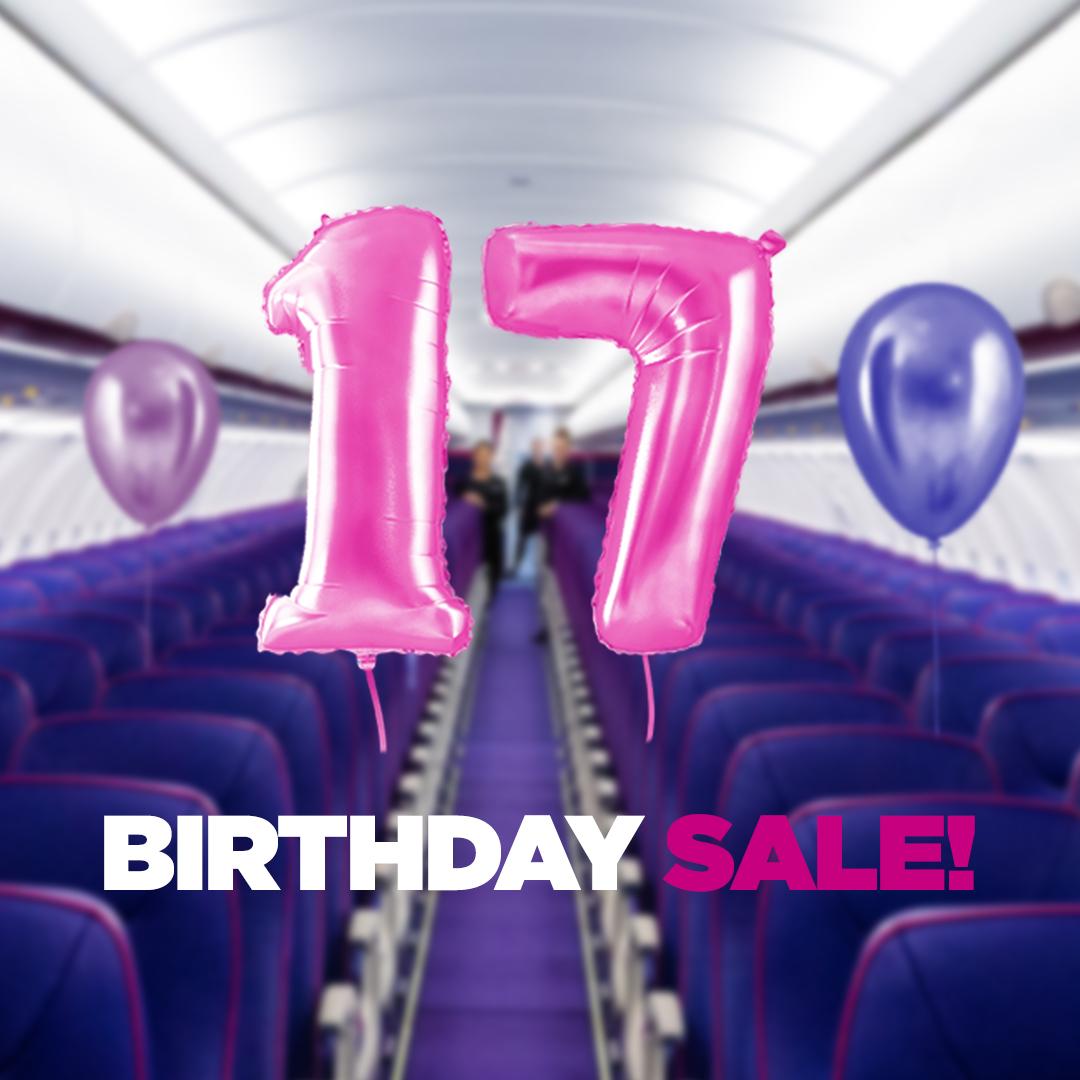 Wizz Air празнува 17-и рожден ден днес с до 35%* отстъпка 137
