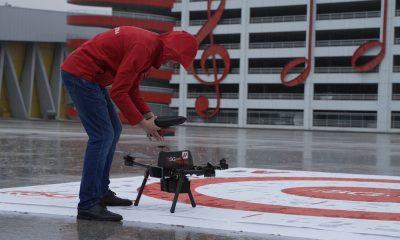 A1 показа приложение на 5G за управление на дрон 115